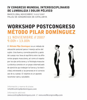 Exitoso debut internacional del MPD en el 6th Interdisciplinary World Congress on Lower Back & Pelvic Pain (Diagnosis and treatment, The balance between research and clinic).