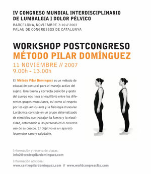 6th Interdisciplinary World Congress on Lower Back & Pelvic Pain (Diagnosis and treatment, The balance between research and clinic).